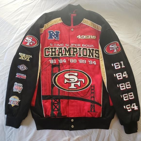 on sale 405b8 bc7f0 🏈San Francisco 49ers Stitched Jacket Size Medium